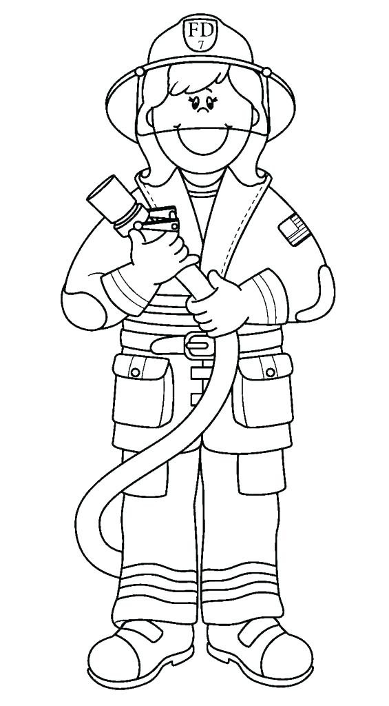 565x1024 Fireman Coloring Page Firefighter Hat Coloring Page Printable