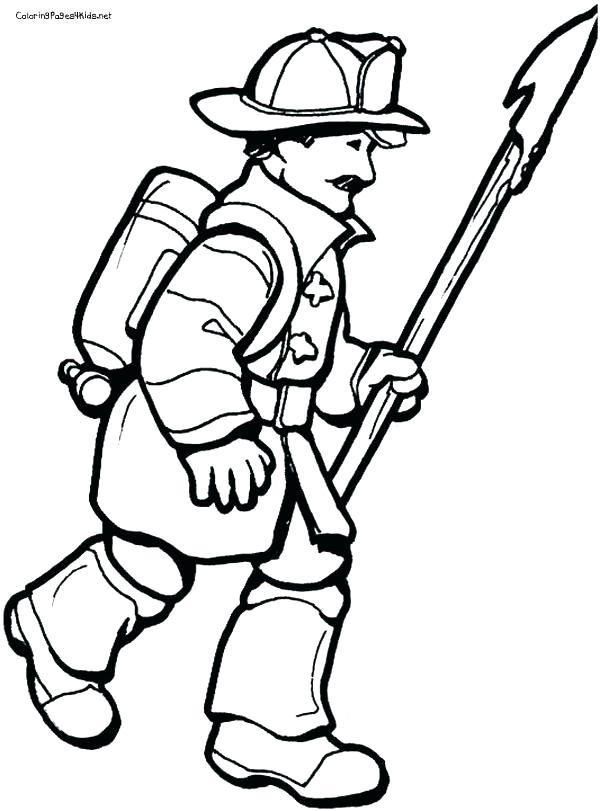 600x811 Fireman Coloring Page Fireman Hat Coloring Page Fireman Coloring
