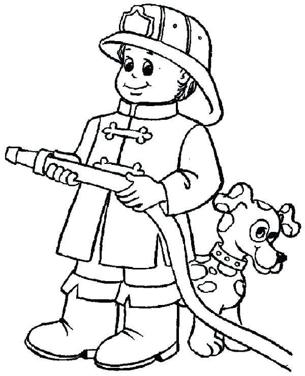 600x741 Fireman Coloring Page Images Fighter Pages Of Pictures To Color
