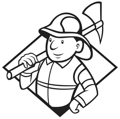 480x477 Fireman Hat Coloring Page Click To See Printable Version