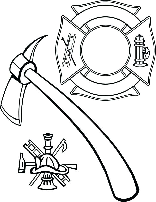 618x800 Coloring For Kids Online Firefighter Hat Coloring Page Printable