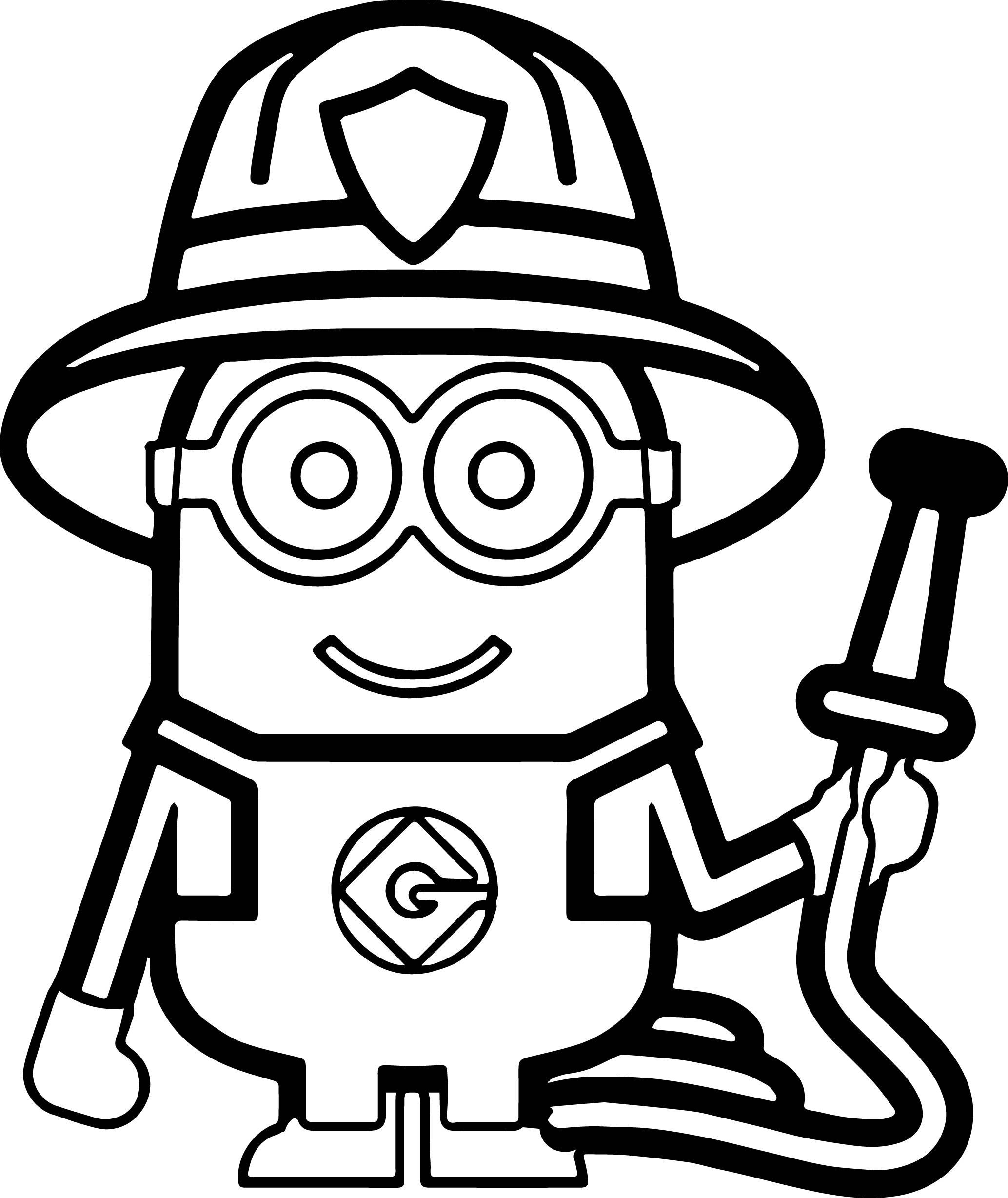 2067x2456 Download Fire Fighter Coloring Pages Fireman Clipart