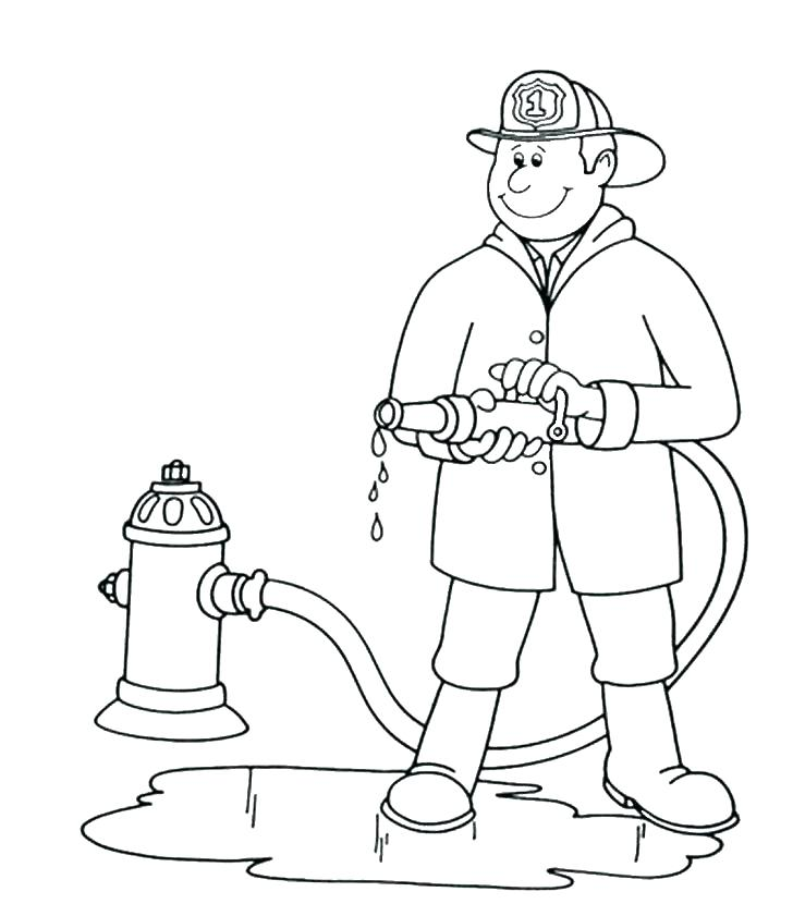 728x830 Fire Fighter Coloring Page Fire Fighter Coloring Pages Firefighter