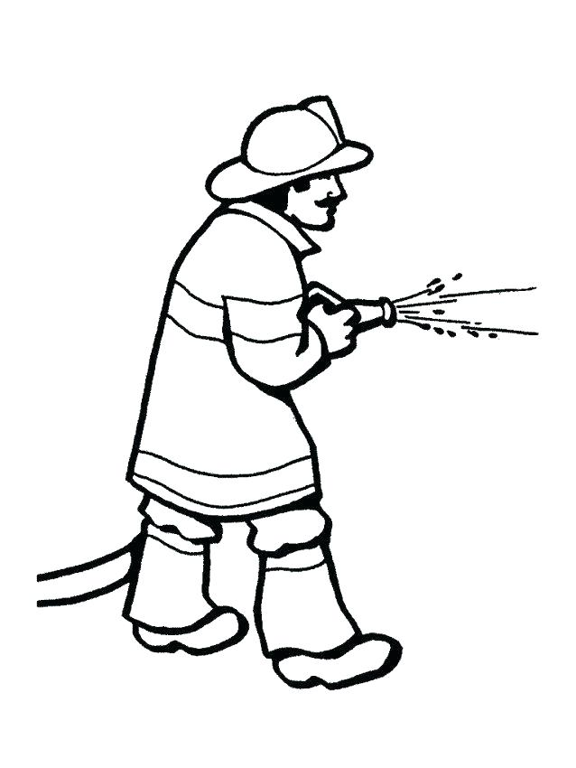 Firefighter Helmet Coloring Page