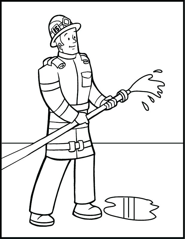 618x798 Fire Fighter Coloring Page Firefighter Firefighter Helmet Coloring