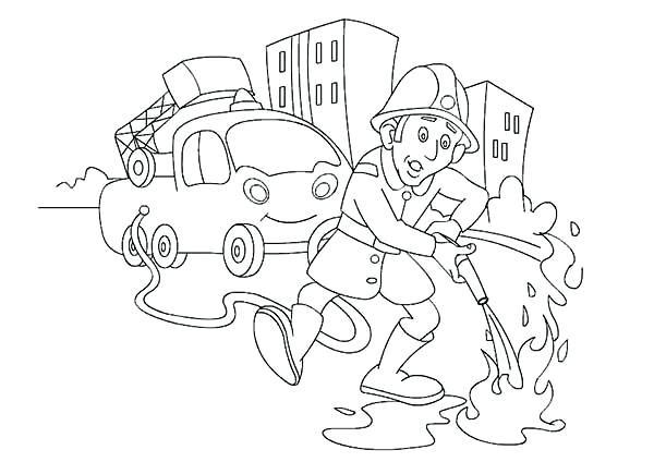 600x424 Fire Fighter Coloring Page Firefighter Helmet Coloring Page