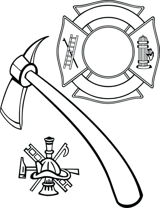 618x800 Firefighter Coloring Page Thank You Firefighter Coloring Pages