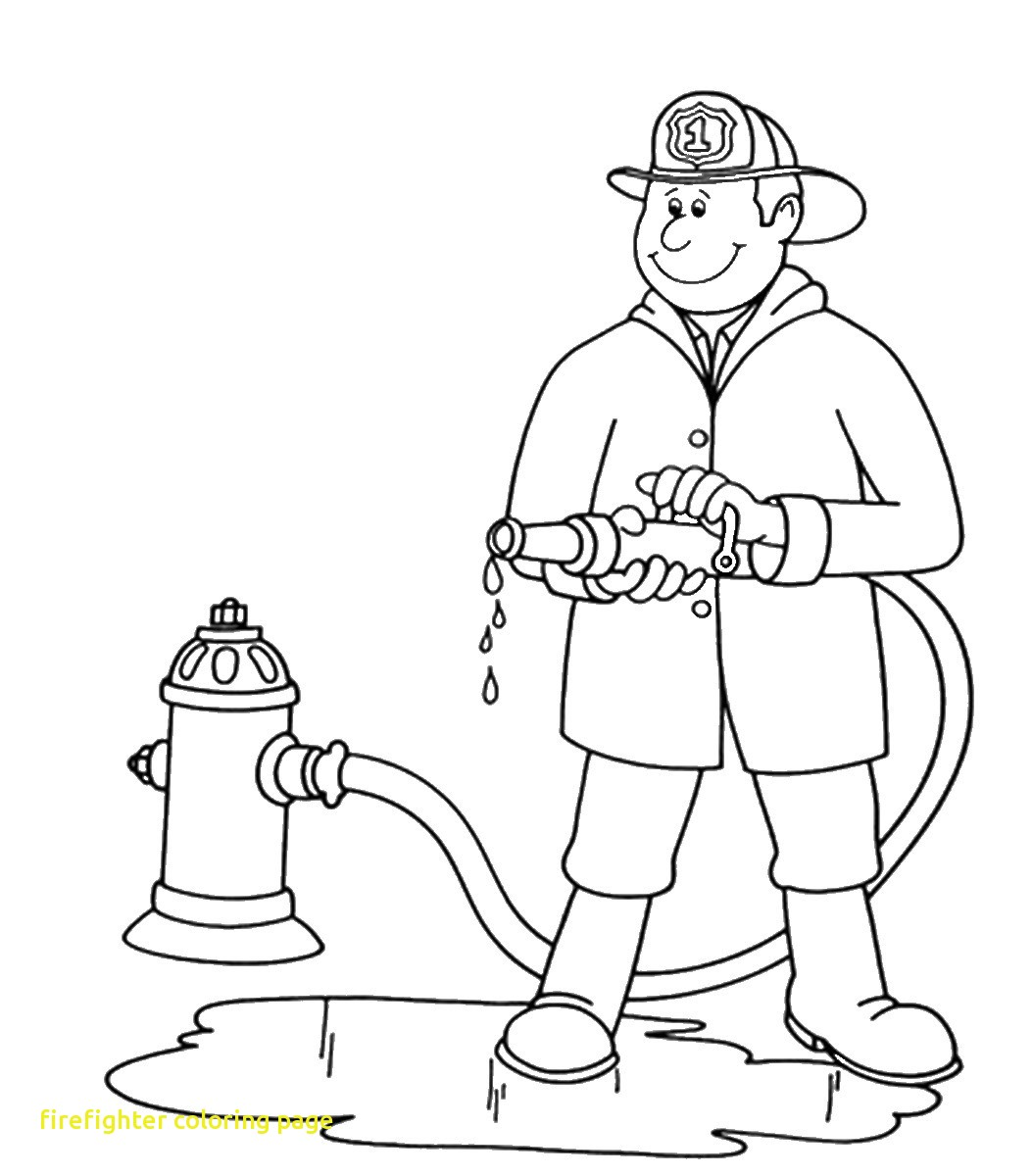 1053x1200 Coloring Page Firefighter