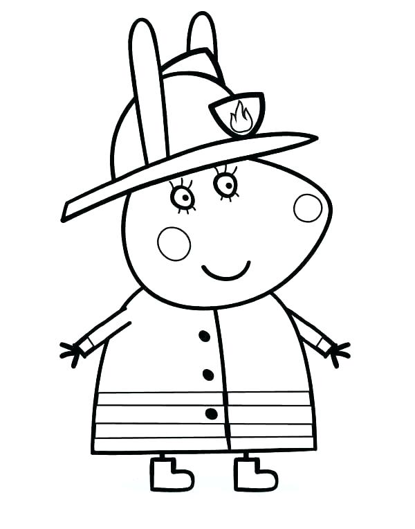 600x764 Firefighter Hat Coloring Page Firefighter Hat Coloring Page