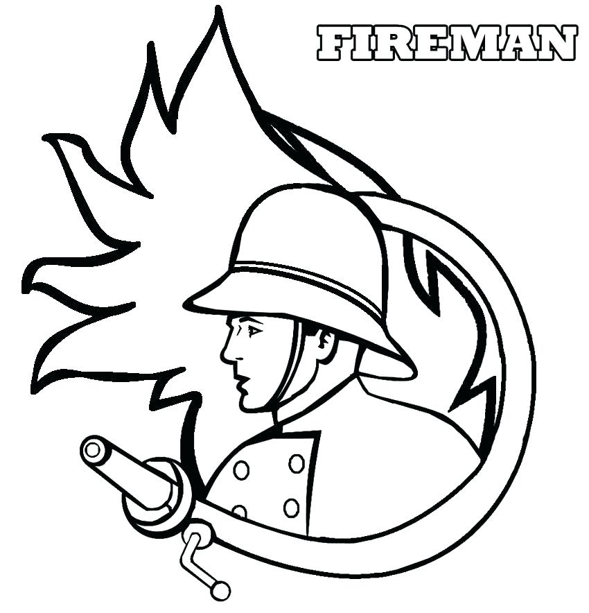 850x884 Firefighter Hat Coloring Page Fireman Hat Coloring Page Fireman