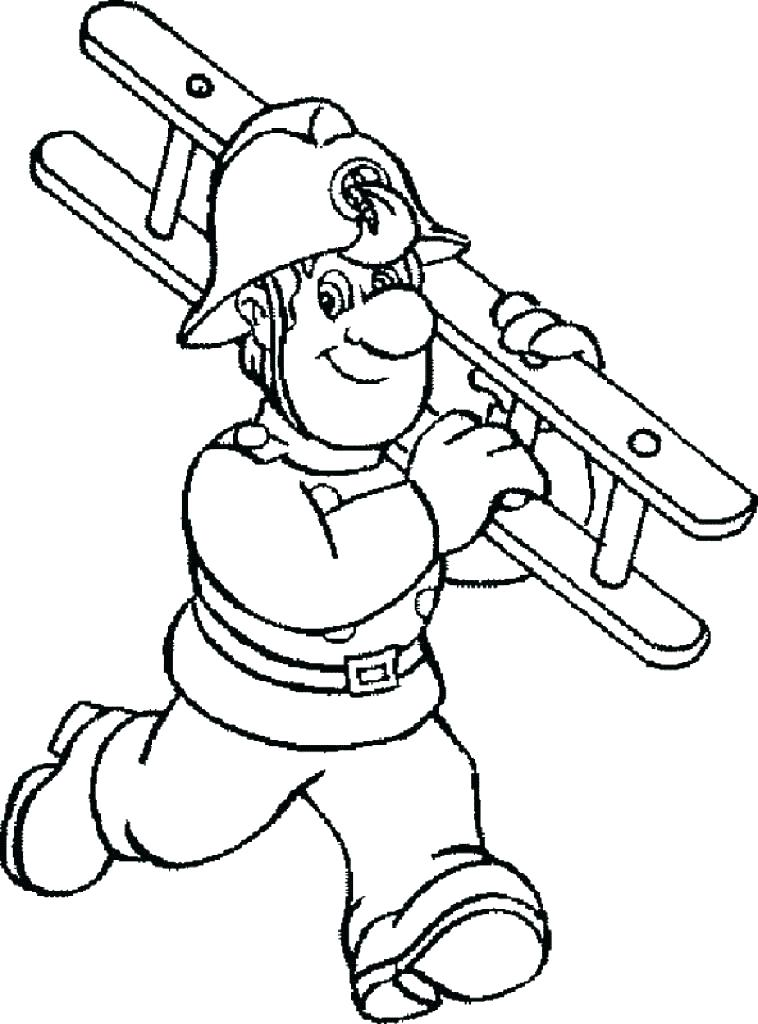 758x1024 Fireman Coloring Page Firefighter Coloring Book Coloring Page