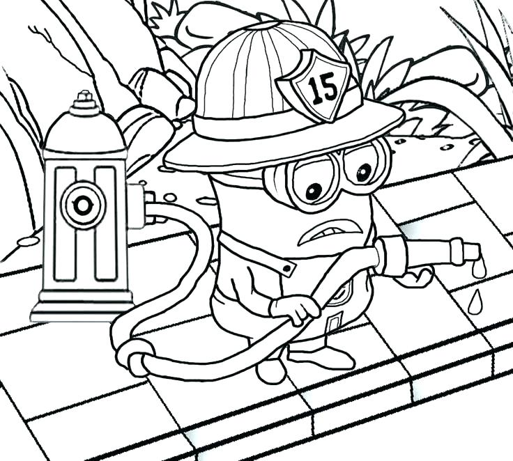 736x662 Fireman Coloring Page Firefighter Coloring Book Firefighter