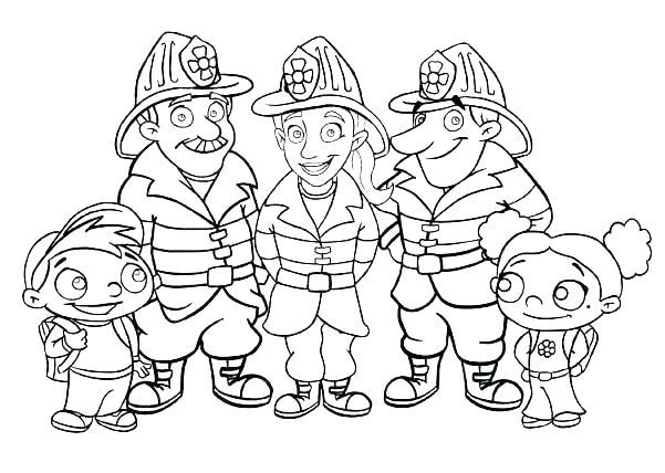 601x428 Fireman Coloring Pages Fireman Coloring Pages Fireman Hat Coloring