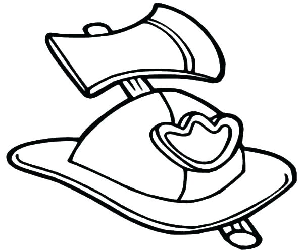 600x500 Cowboy Hat Coloring Page Firefighter Hat Coloring Page Firefighter