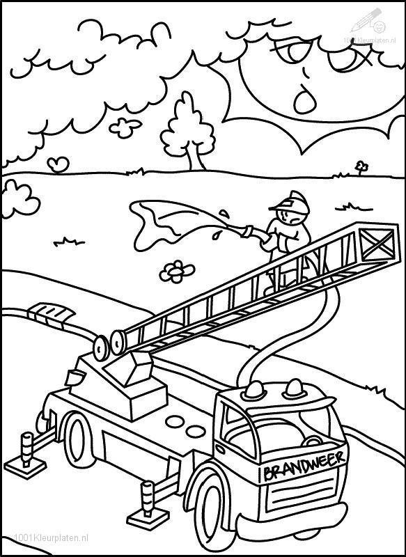 583x800 Fire Department Coloring Pages
