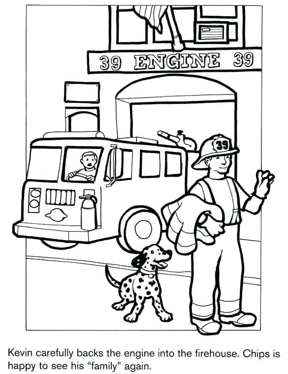 585x760 Fire Department Colouring Pages Fire Truck Coloring Book And Free