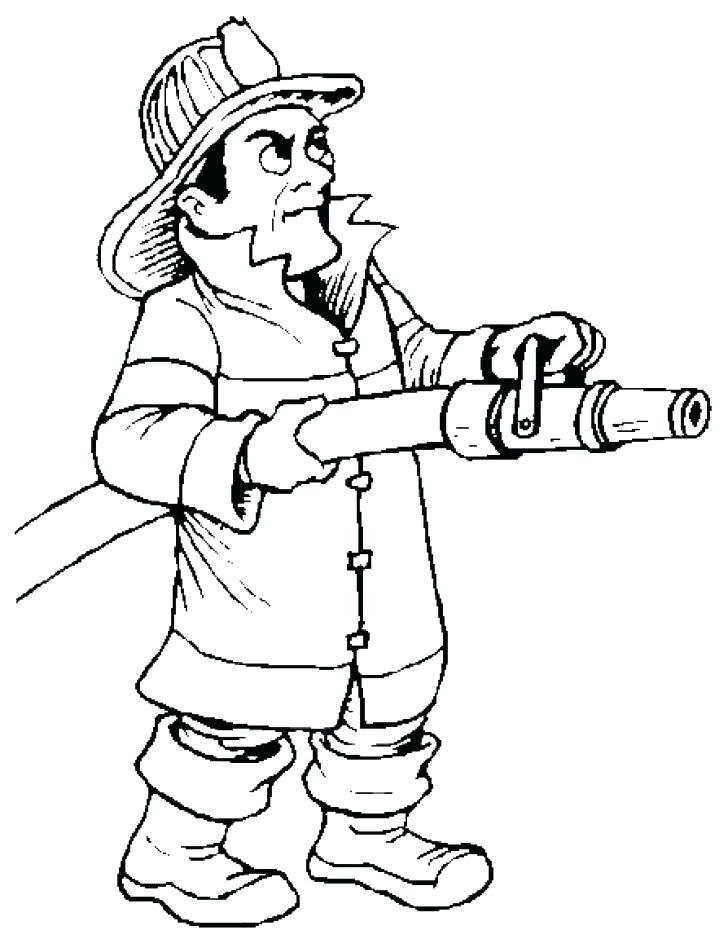 728x939 Fire Fighter Coloring Pages Firefighter Fire Department Colouring