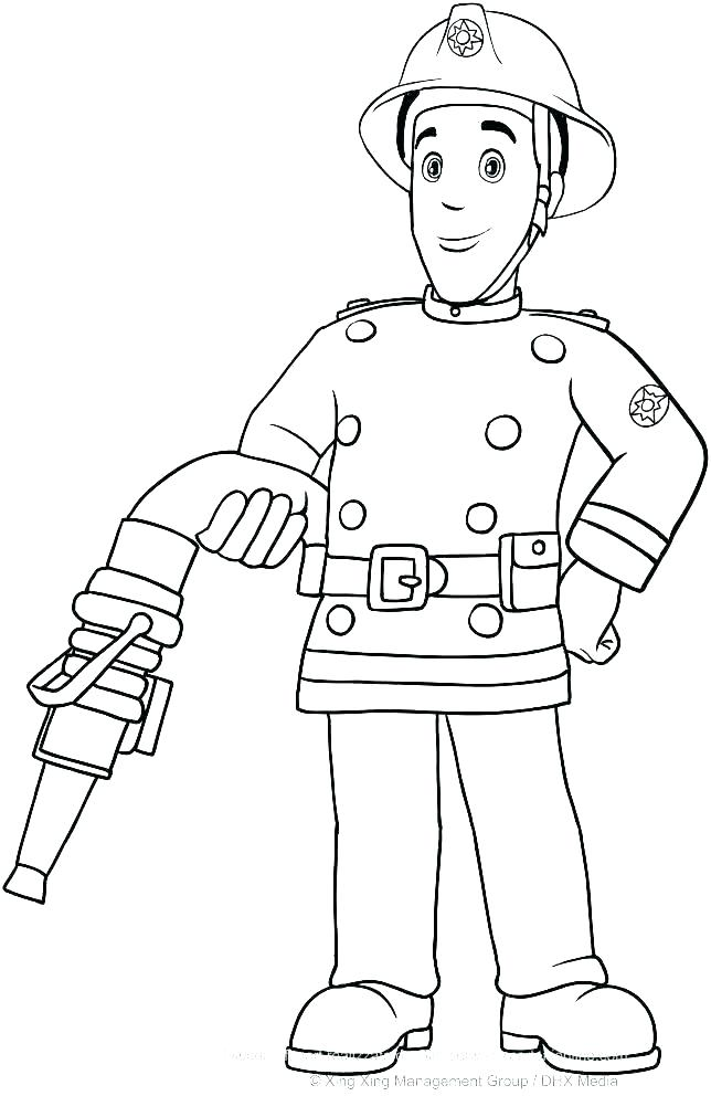 644x992 Fire Fighter Coloring Pages Fire Fighter Coloring Page Printable