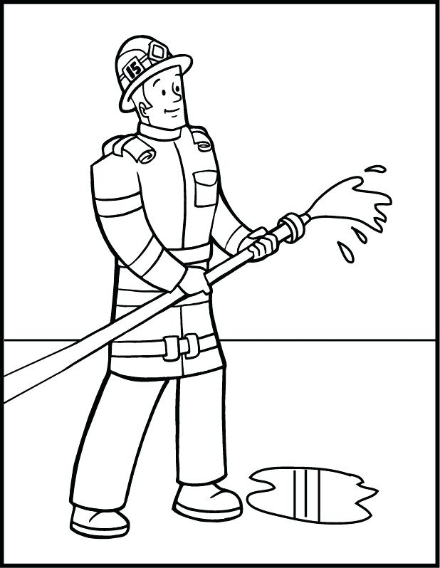 618x798 Fire Fighter Coloring Pages Fire Fighter Image Gallery Fireman