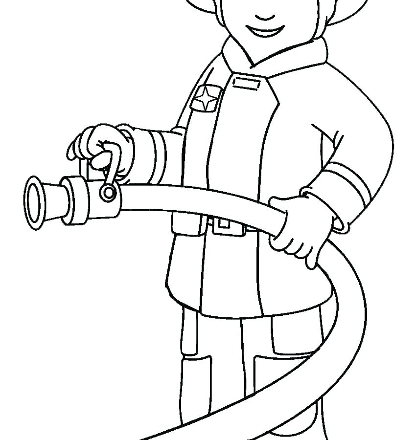850x900 Fire Fighter Coloring Pages Fireman Coloring Pages Firefighter