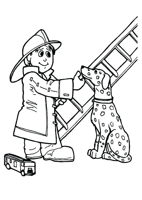 595x842 Fire Fighter Coloring Pages Fireman Coloring Pages Fireman
