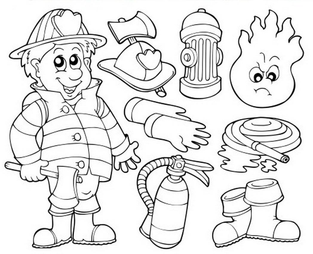 1048x853 Fireman Coloring Pages