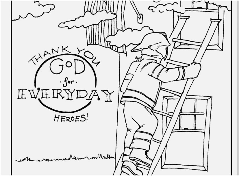 827x609 Fireman Coloring Pages Concept Fantastic Thank You Firefighters