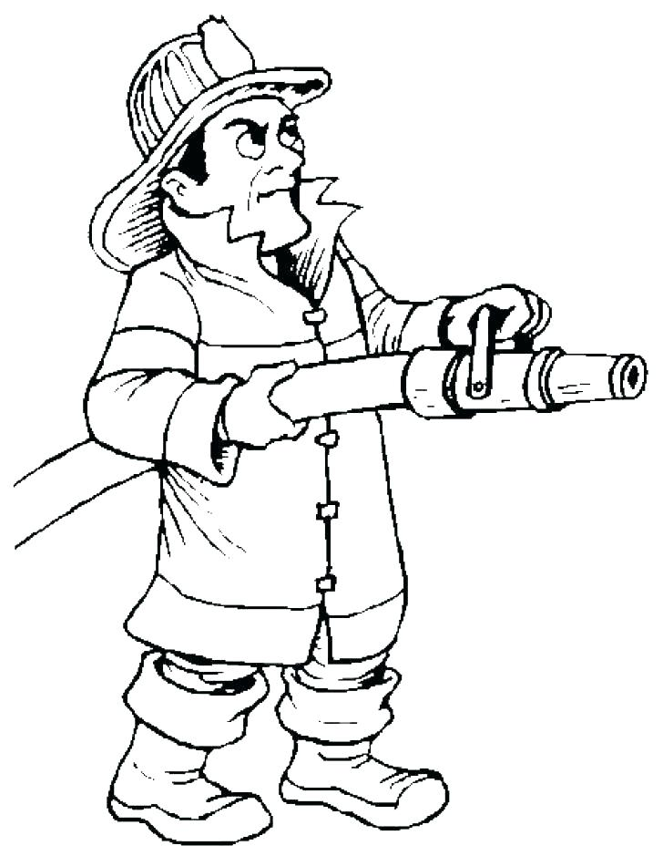 728x939 Fireman Coloring Pages Fireman Coloring Pages Fire Fighter