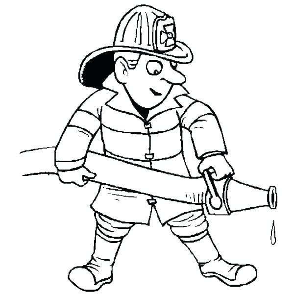 600x600 Fireman Coloring Sheets Coloring Firefighter Coloring Page Lovely