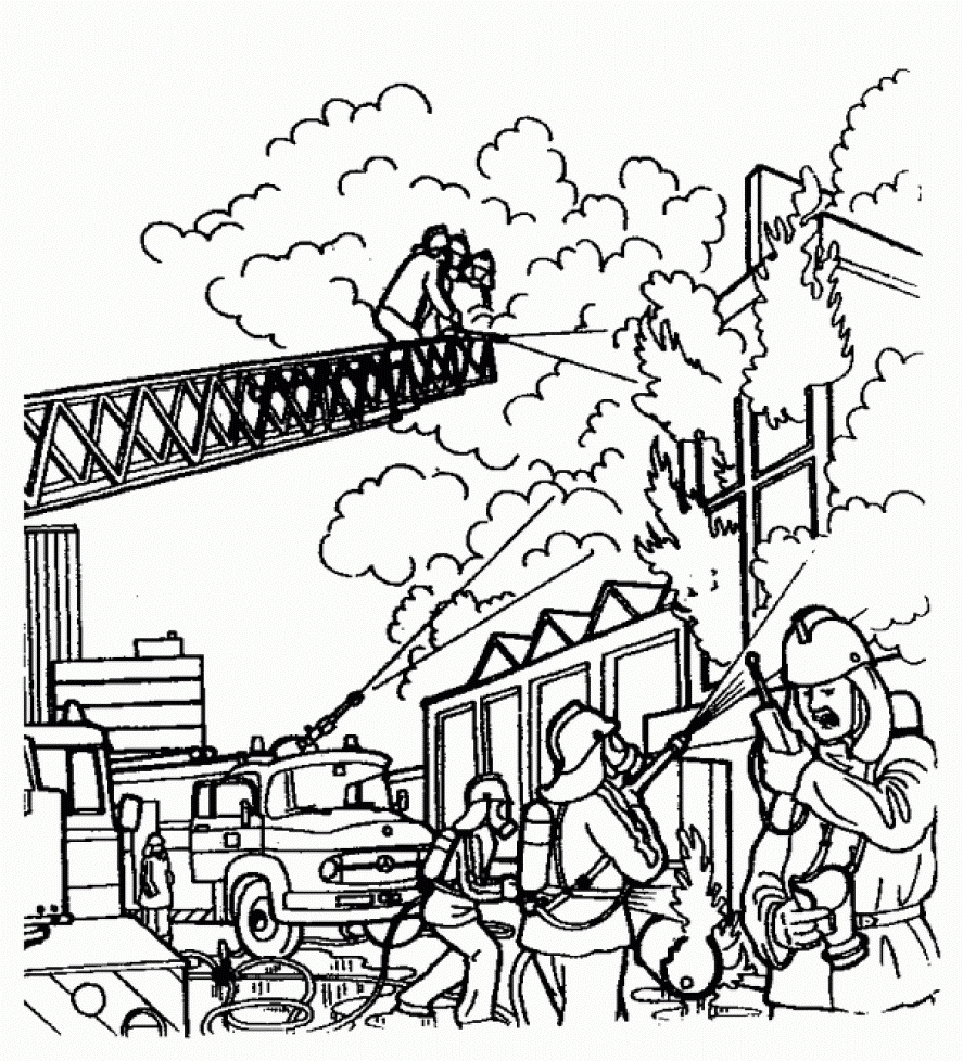 887x978 Fresh Firefighter Coloring Page Gallery Printable Coloring Sheet