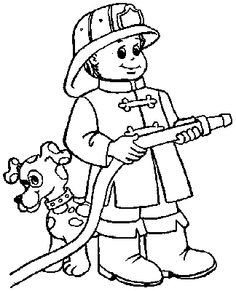 236x291 Firefighter Coloring Page Themes Firefighters Fire Safety