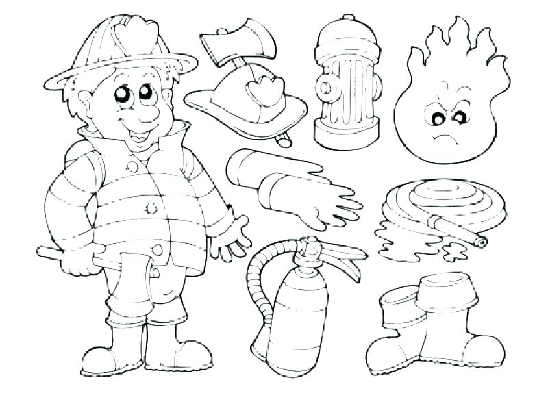 800x609 Coloring Page Firefighter Fireman Coloring Pages Fire Fighter