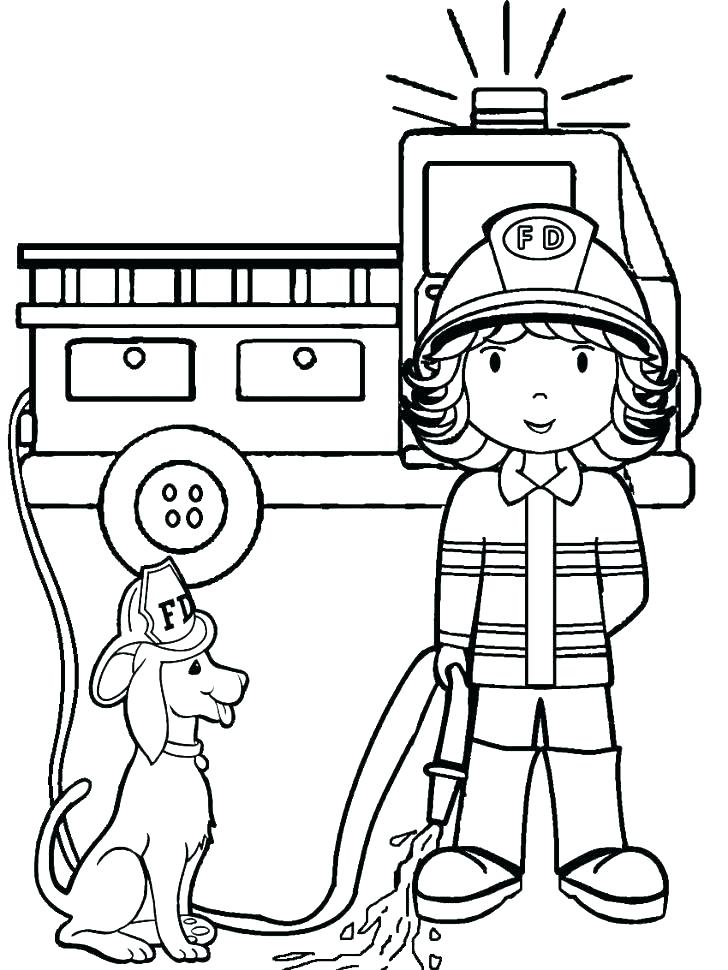 728x970 Firefighters Coloring Pages