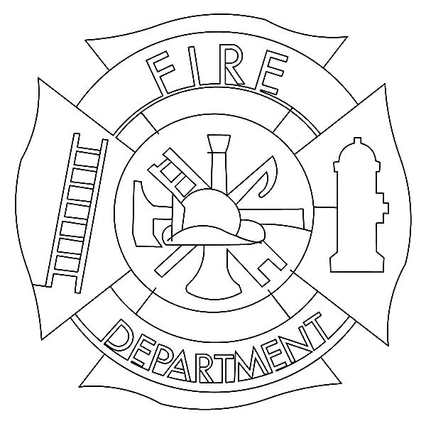 600x600 Cross Fire Department Coloring Pages Batch Coloring Fire