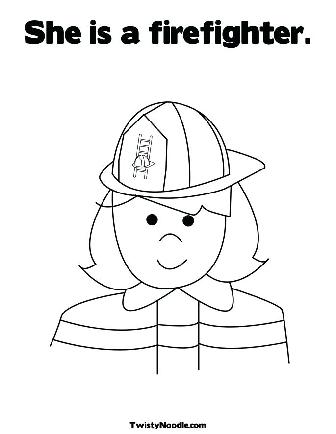685x886 Firefighter Hat Coloring Page Fire Hat Coloring Page Firefighter