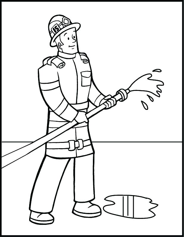 618x798 Fireman Coloring Page Firefighter Hat Coloring Page Fireman
