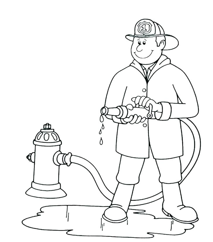 728x830 Coloring Pages Fireman Fire Fighter Coloring Pages Tools Coloring