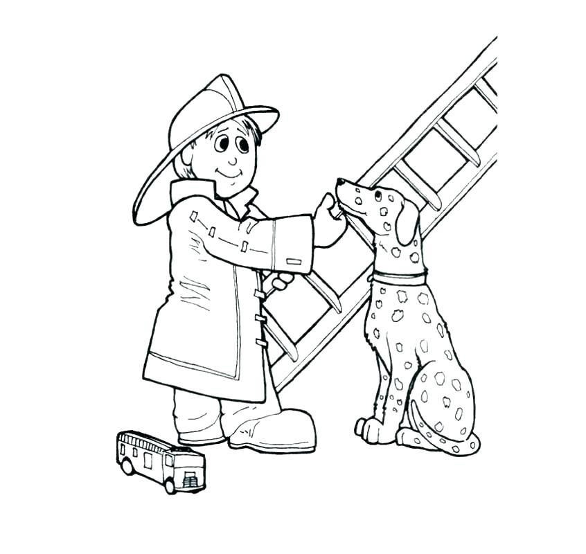 846x800 Fireman Hat Coloring Page Firefighter Coloring Pages Printable
