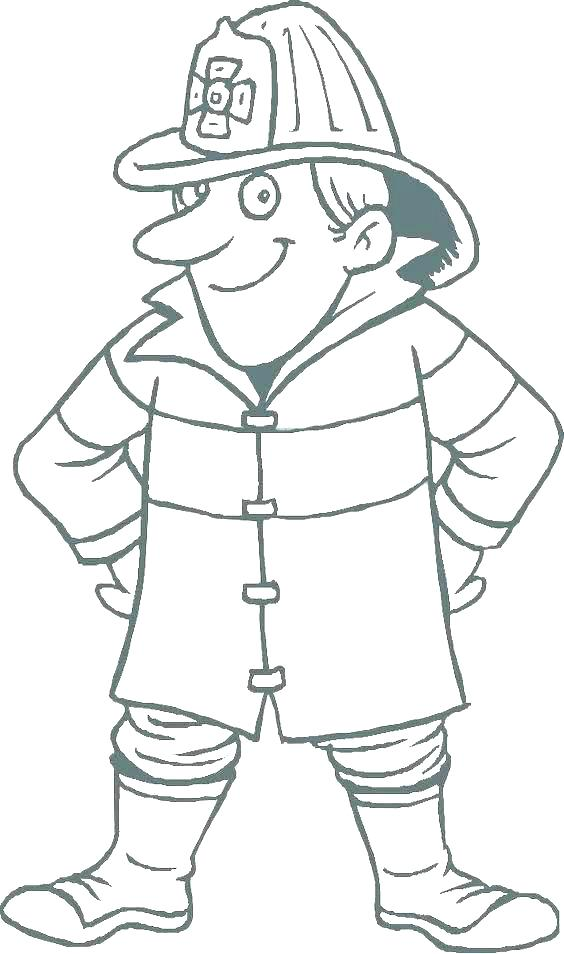 564x954 Community Workers Coloring Pages Fireman Hat Coloring Page