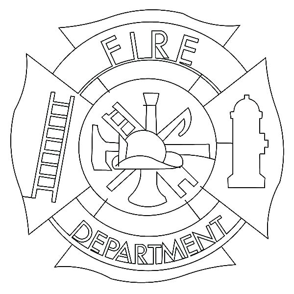 600x600 Fireman Hat Coloring Page