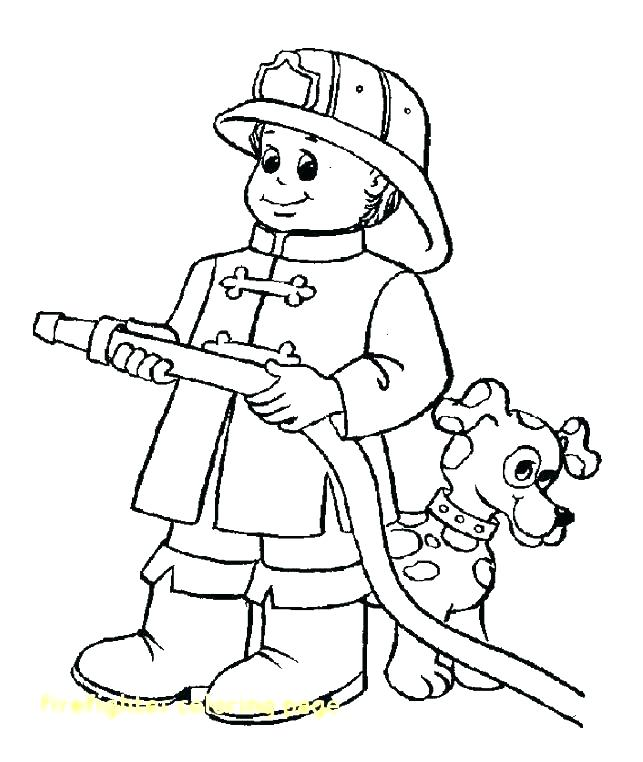 643x762 Fire Fighter Coloring Book Plus Firefighter Hat Coloring Page