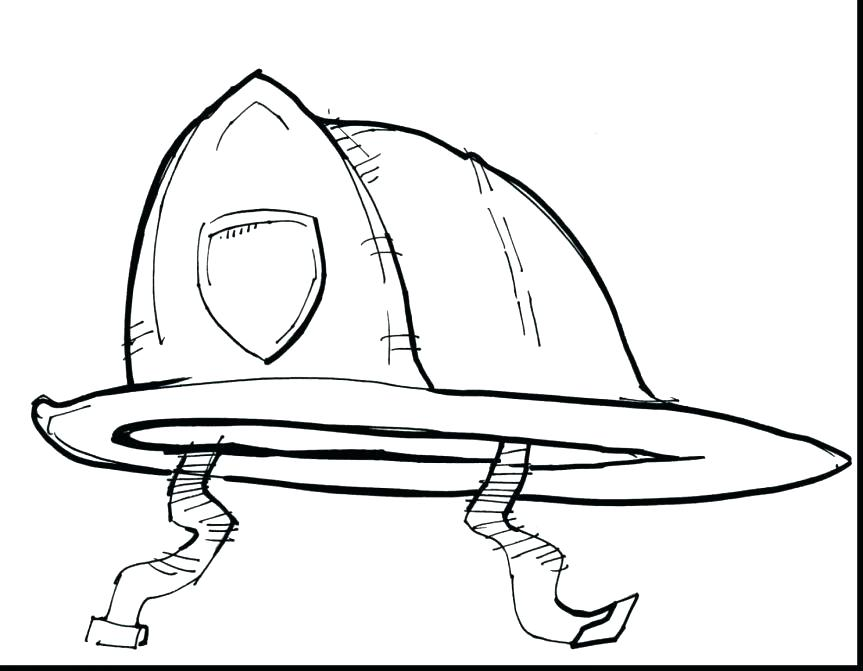863x671 Fire Hydrant Coloring Page Fireman Hat Coloring Page Fire Fire