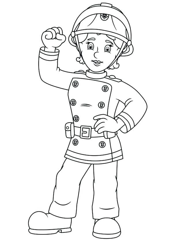 600x840 Fireman Friend Penny Coloring Page Coloring Sky Fireman Friend