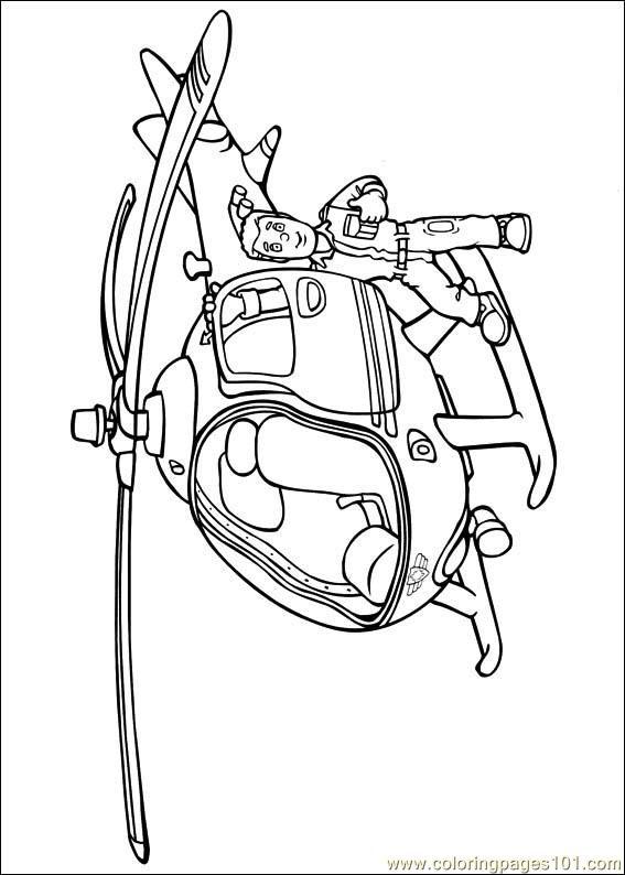 567x794 Fireman Sam Coloring Page