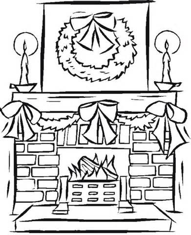 Fireplace Coloring Page