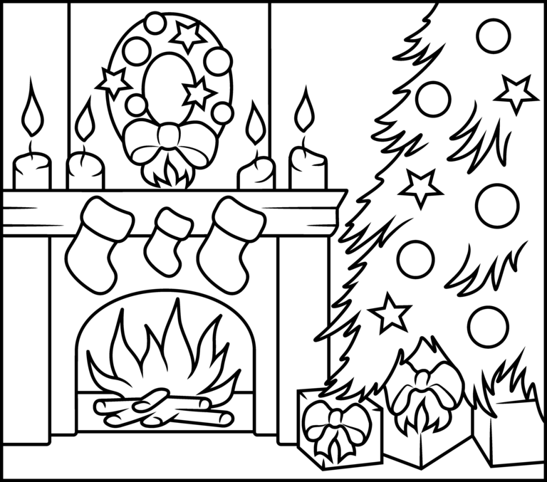 768x677 Christmas Fireplace