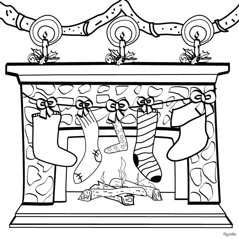 820x820 Free Christmas Coloring Pages For Kids Fireplace Coloring Pages