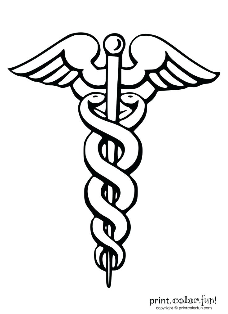 736x1012 First Aid Coloring Pages Medical Coloring Pages Caduceus Symbol