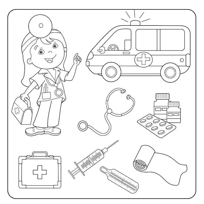 800x800 Free Printable Medical Coloring Pages Printable Coloring First Aid