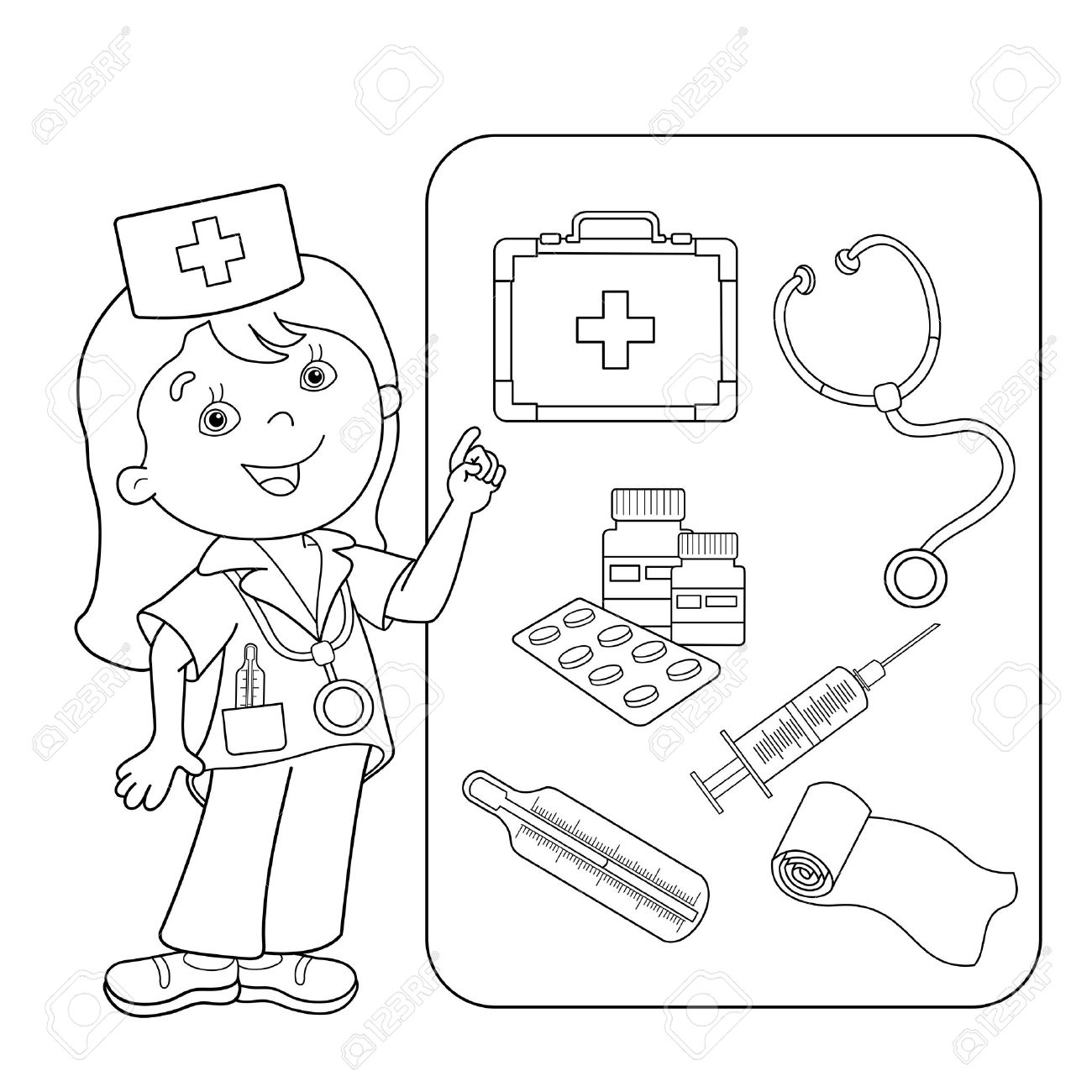 1300x1300 Superior First Aid Coloring Pages For Kids Kit To Print
